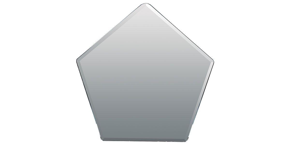 Miroir géométrique laqué PIX - Blanc