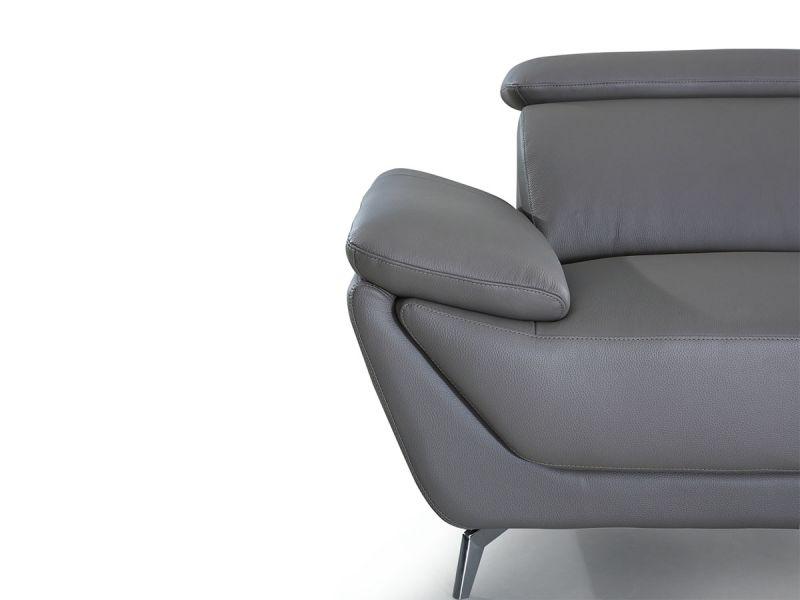 Canapé en cuir 2 places LEA