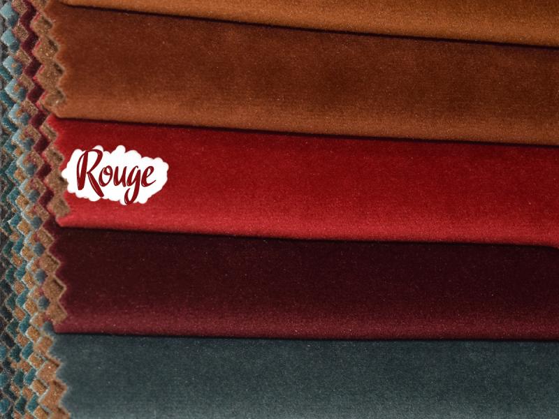 Fauteuil pivotant en velours côté gauche MIRO - Rouge