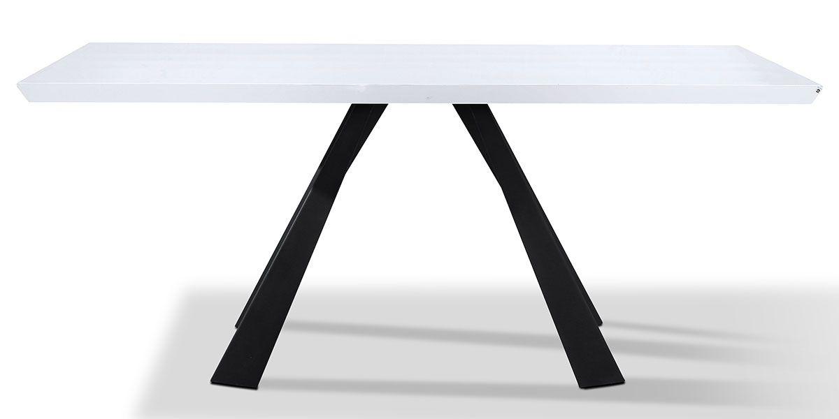 Table à manger laqué ASTER - Blanc