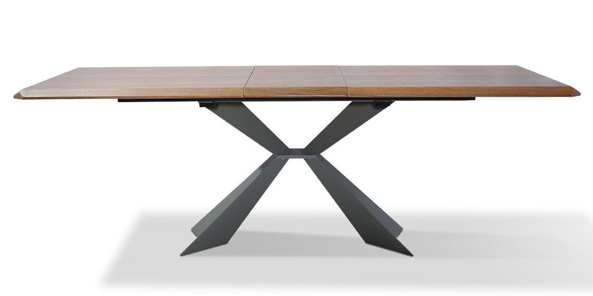 Table à manger extensible bois NOOR - Noyer
