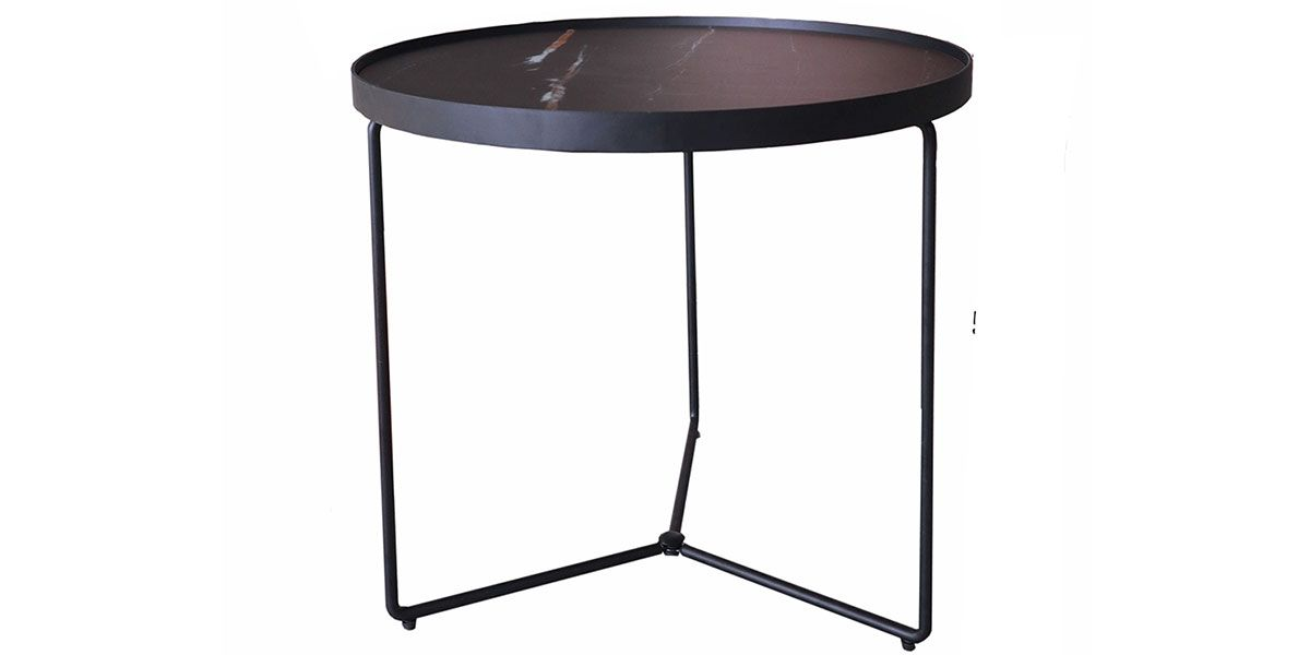 Table d'appoint verre Small ZEBRA - Effet marbré (C1)