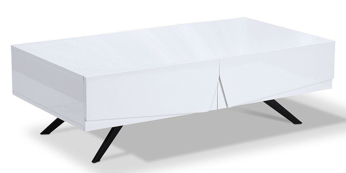 Table basse laqué ASTER - Blanc