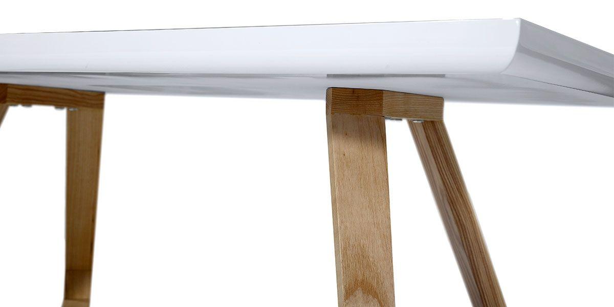 Table basse bois/laqué DUNE - Frêne/Blanc