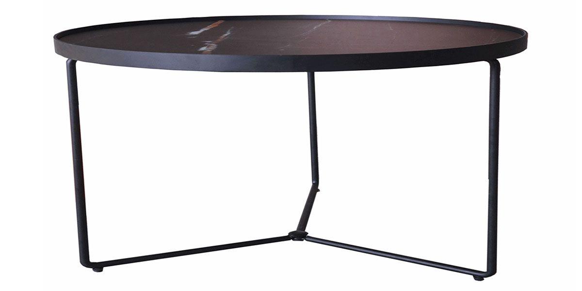 Table basse verre Medium ZEBRA - Effet marbré