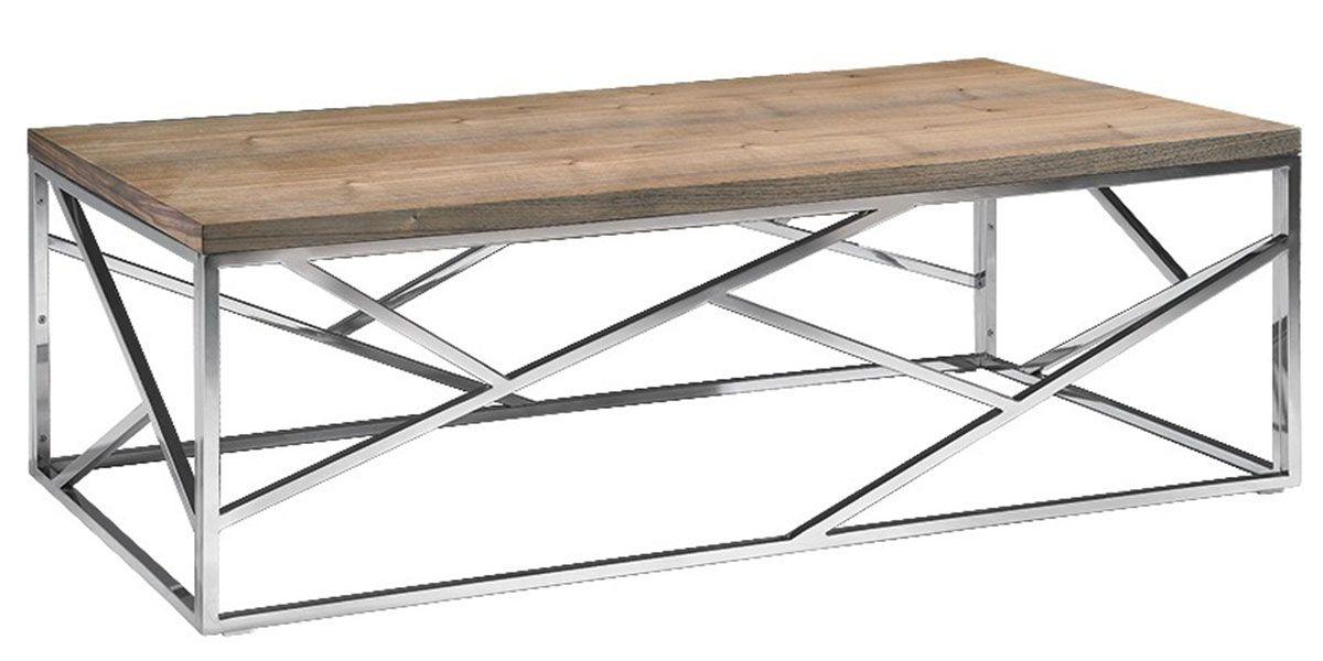Table basse bois et acier SOAN - Frêne/Acier