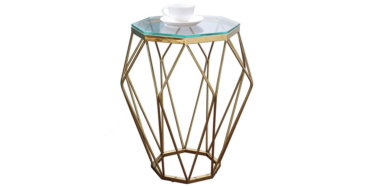 Table basse/ table d'appoint verre SILLA - Transparent