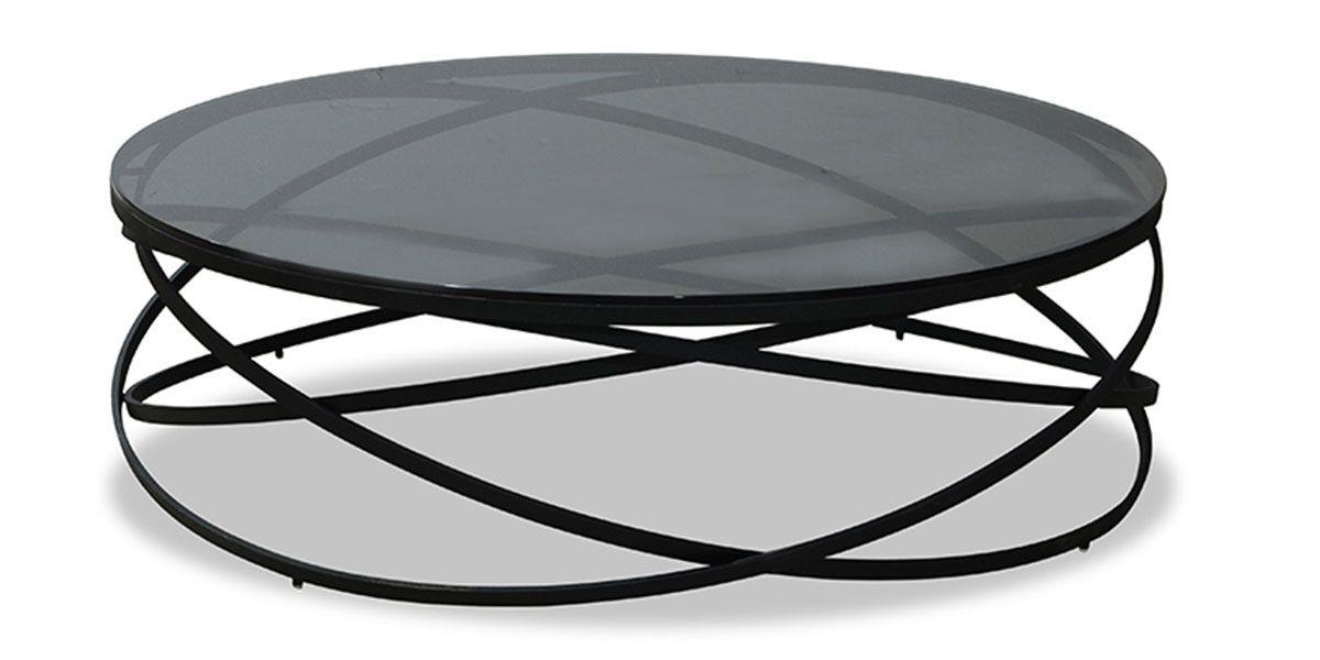 Table basse verre IRIS - Gris