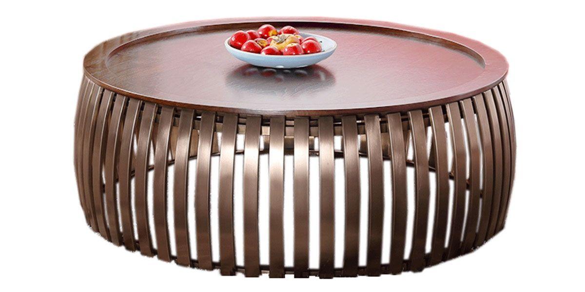 Table basse bois ZLATO - Noyer