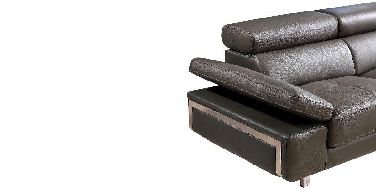 Canapé d'angle en cuir GIANNI