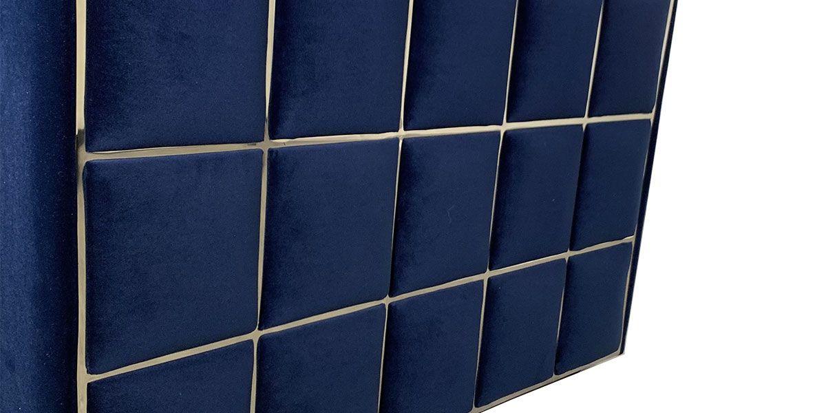 Fauteuil en velours KALIA - Bleu