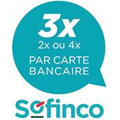 Logo paiement 3 ou 4 fois sans frais SOFINCO